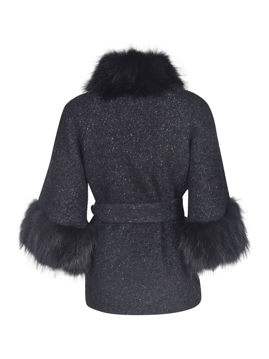 Bully Glittery Furred Cuff Detail Jacket