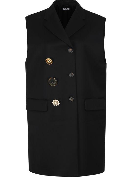 Miu Miu Wool Double-breasted Waistcoat