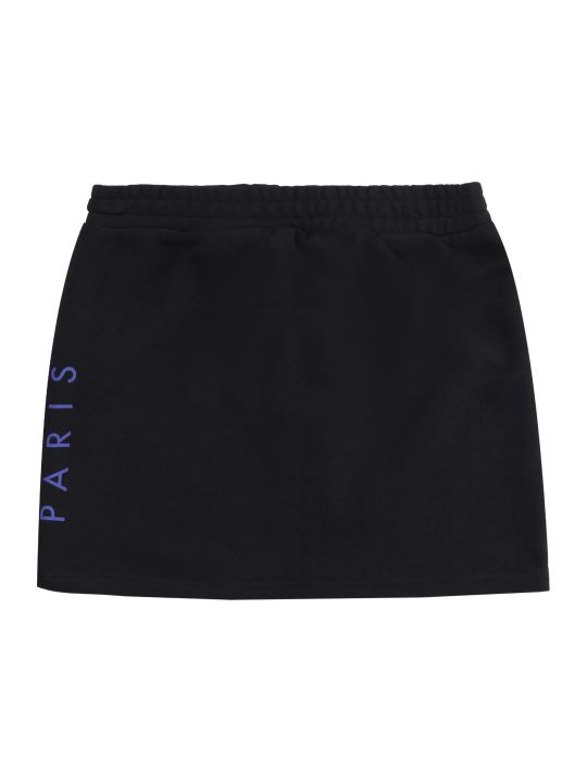 Kenzo Kids Logo Print Cotton Blend Skirt