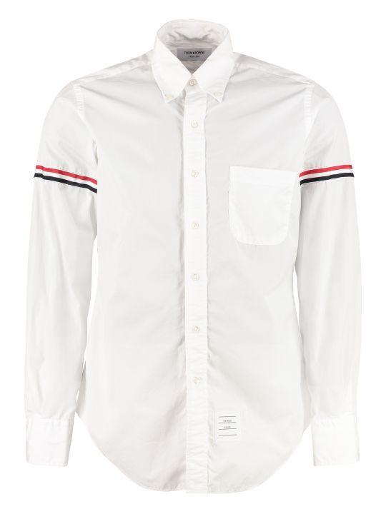 Thom Browne Cotton Shirt With Button-down Collar