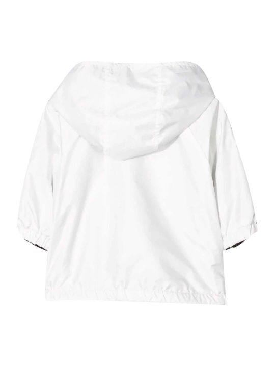 "Fendi White Jacket With ""ff"" Press"