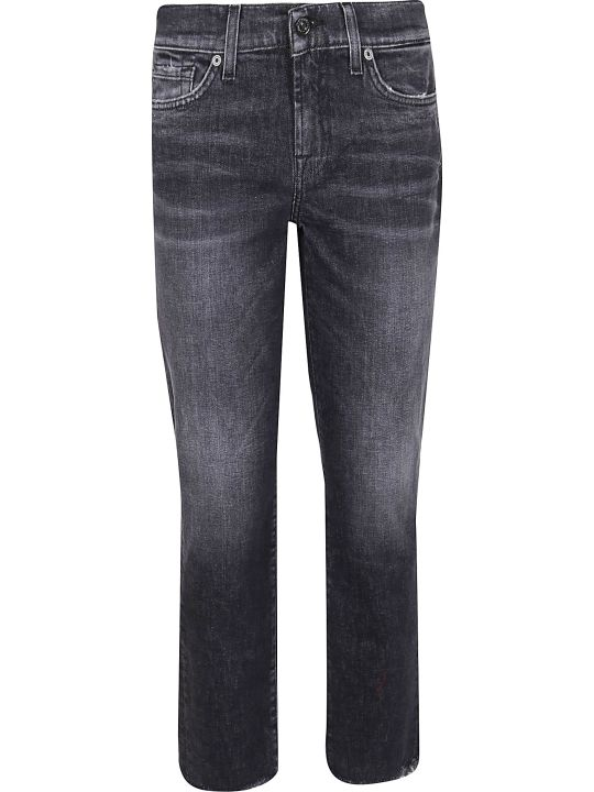 7 For All Mankind Mid Rise Roxanne Crop Smokeout