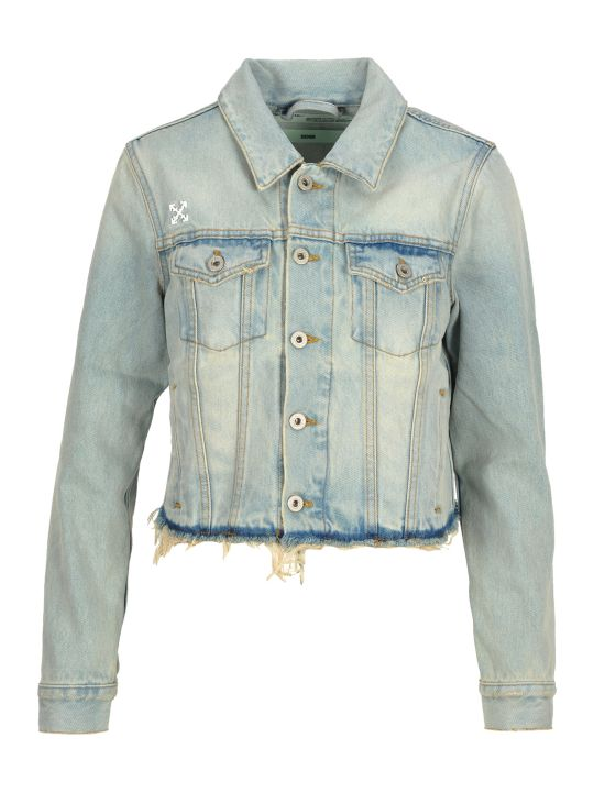 Off-White Off White Off-white, Denim Frayed Jacket