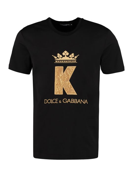 Dolce & Gabbana King Patch Cotton T-shirt