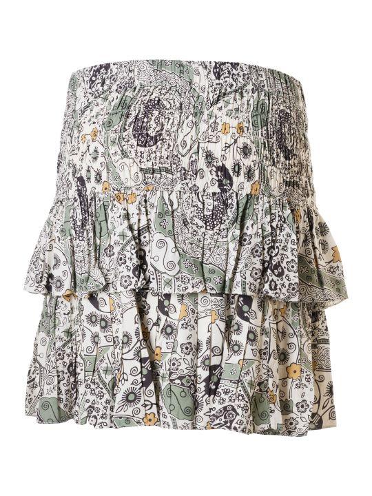 Isabel Marant Ruffled Printed Skirt
