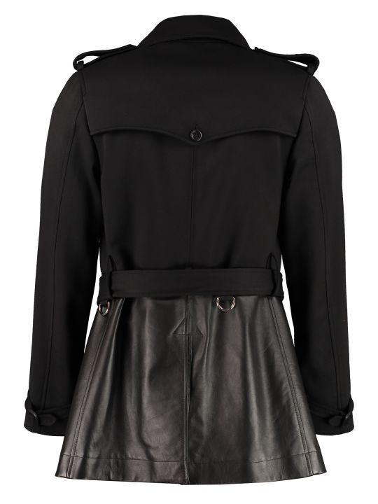 Alexander McQueen Double-breasted Wool And Leather Coat