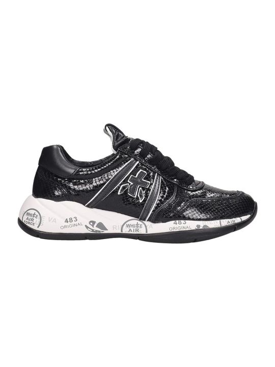 Premiata Layla Sneakers In Black Tech/synthetic