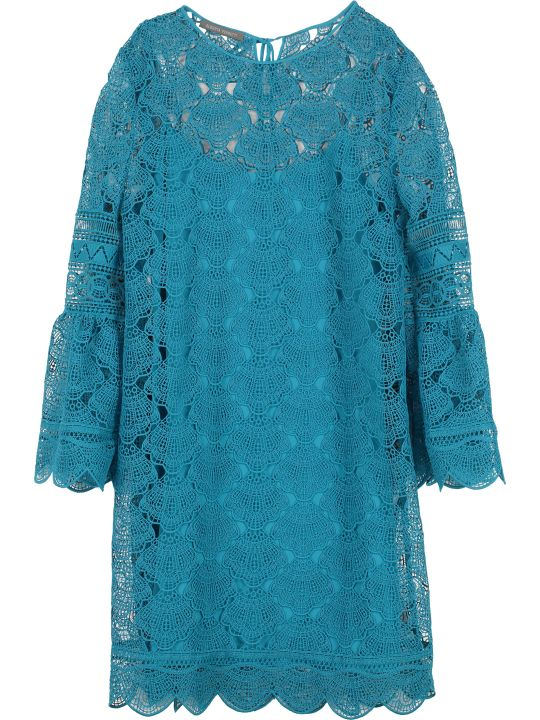 Alberta Ferretti Floral Macramé-lace Dress