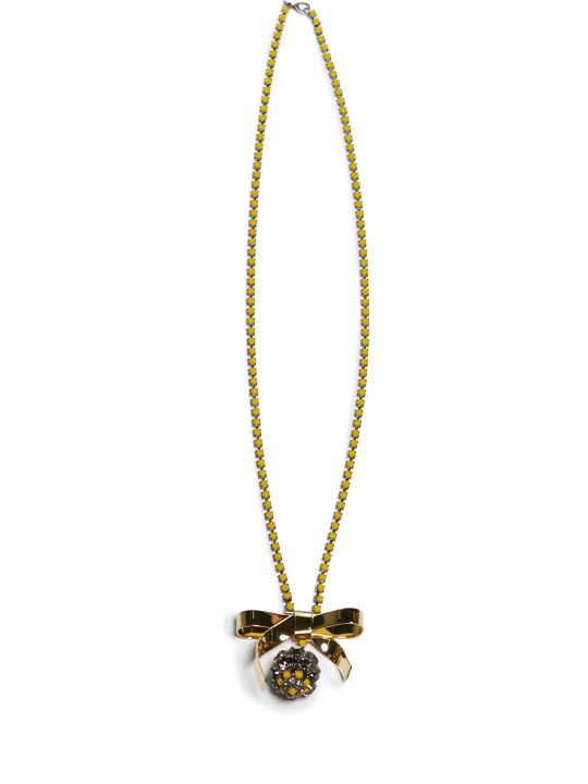 Marni Strass Bow Necklace