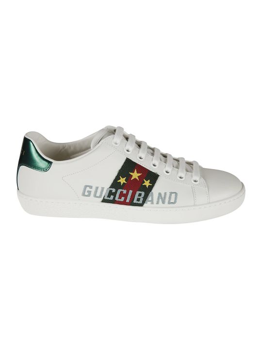 Gucci Logo Embroidered Sneakers