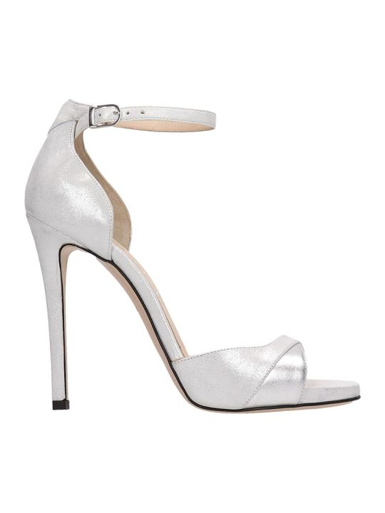 Marc Ellis Silver Glitter Leather Sandals
