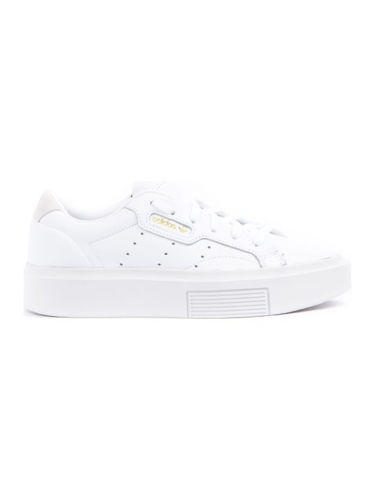 Adidas Originals Sleek Super White Leather Sneakers