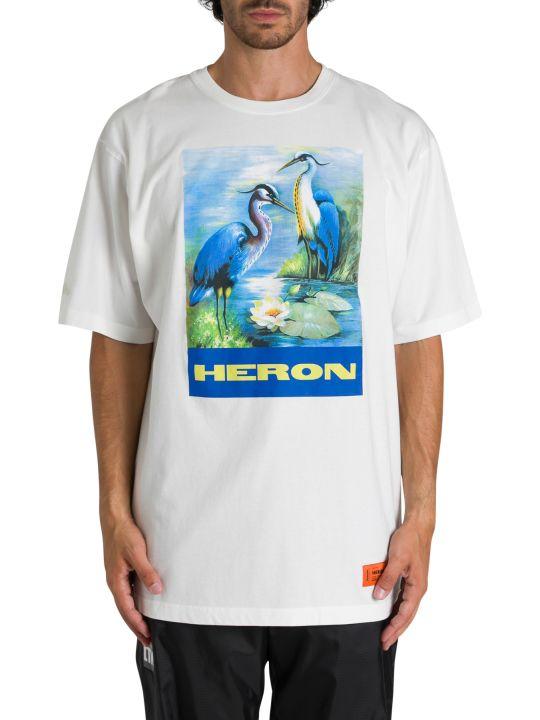 HERON PRESTON T-shirt Girocollo A Maniche Corte Over Permanet Stampa Aironi