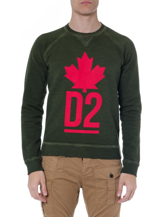 Dsquared2 Green D2 Cotton Sweatshirt