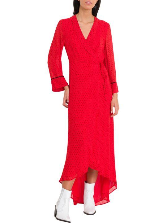 Ganni Mullin Polka Dots Wrap Dress