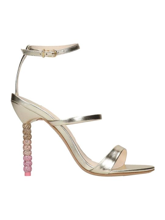 Sophia Webster Rosalinf Sandals In Gold Leather