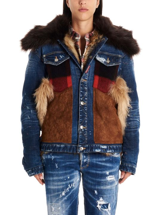 Dsquared2 'canadian Mixed Fabrics Bomber' Jacket
