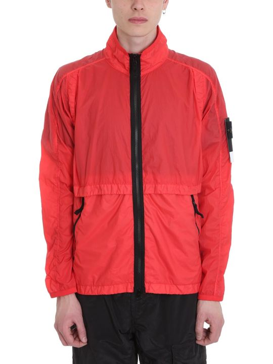 Stone Island Red Technical Fabric Jacket
