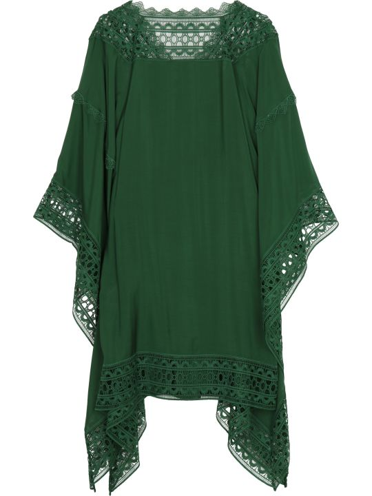 self-portrait Macramé Trim Kaftan