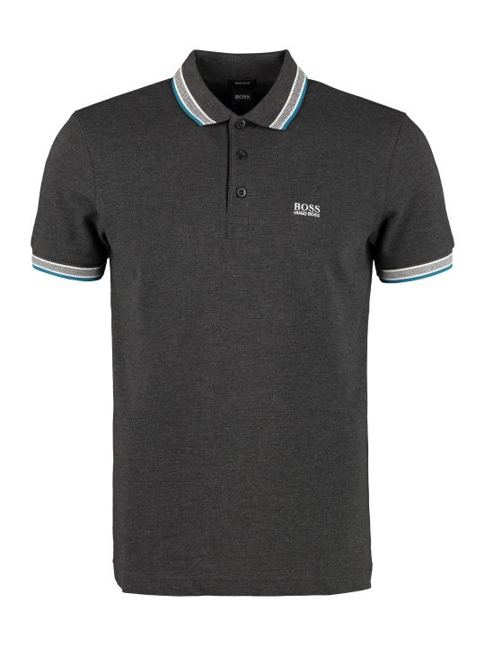 BOSS Black Paddy Piqué Polo Shirt With Decorative Inserts