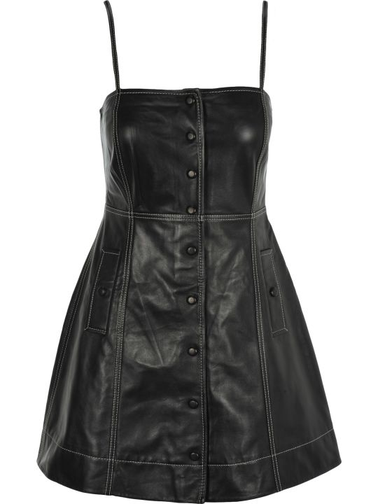 Ganni Leather Dress