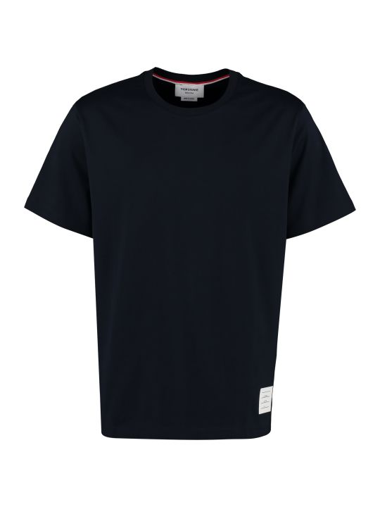 Thom Browne Crew-neck Cotton T-shirt