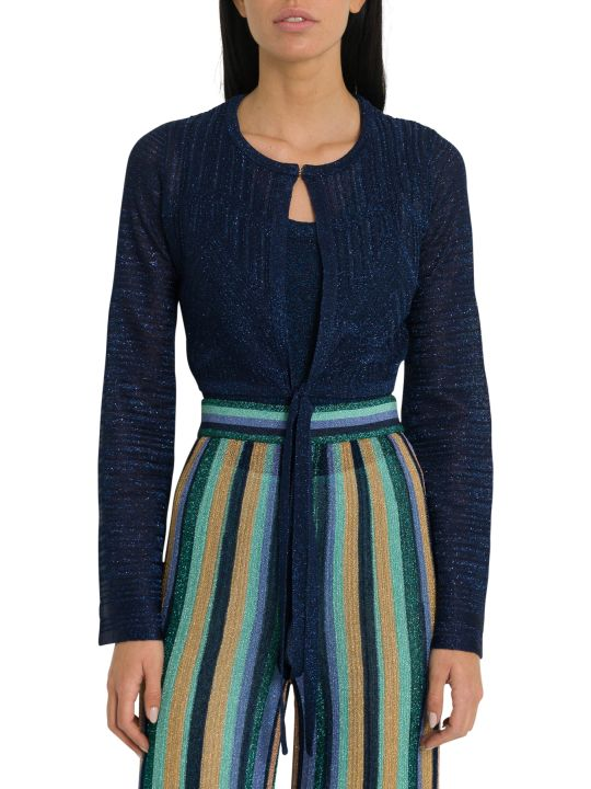 M Missoni Lurex Short Cardigan