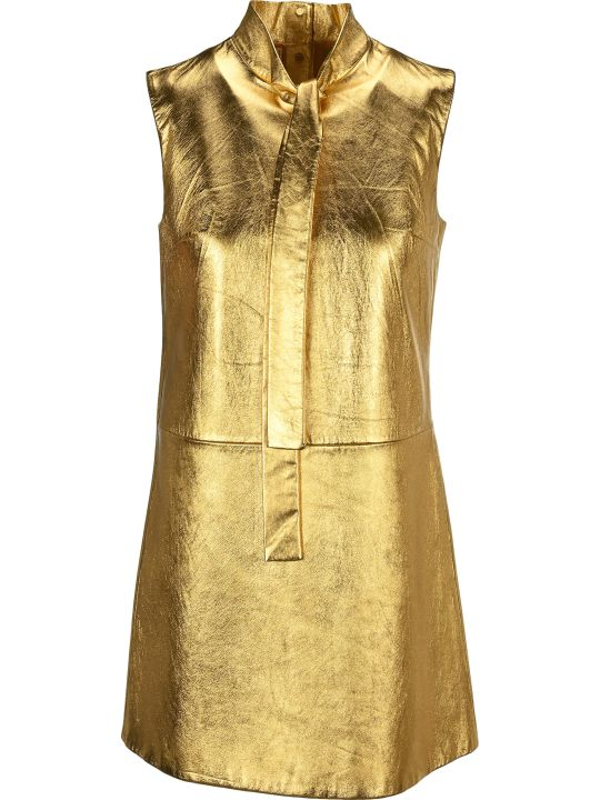Prada Laminated Nappa Leather Dress