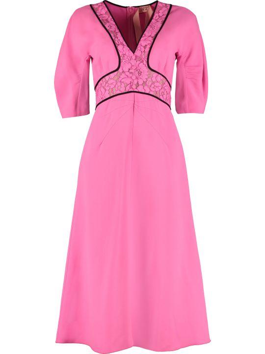 N.21 Lace Detail Crêpe Dress