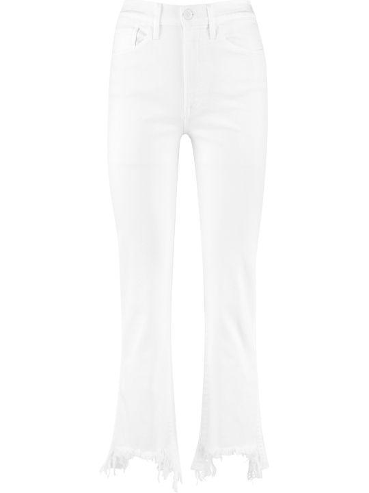 3x1 High Waist Jeans With Fringed Hem