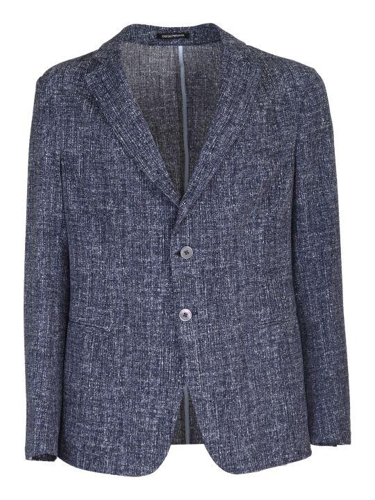 Emporio Armani melange effect jacket