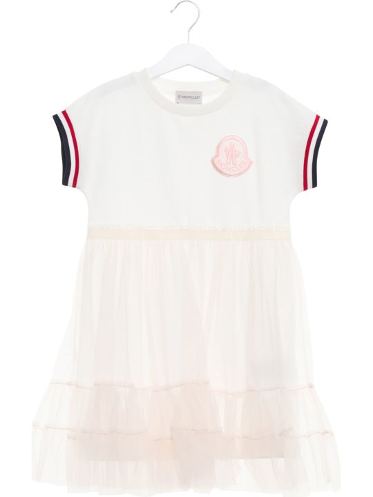 Moncler Short-sleeve Frilled Dress