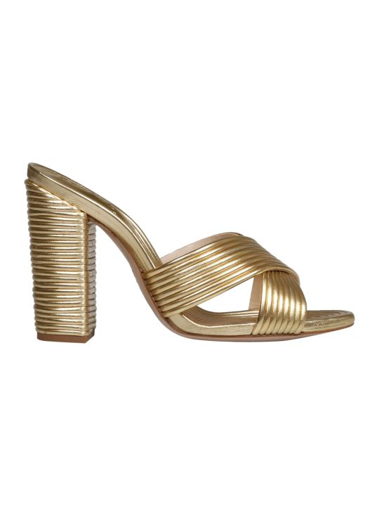 Schutz Laminated Leather Sandals
