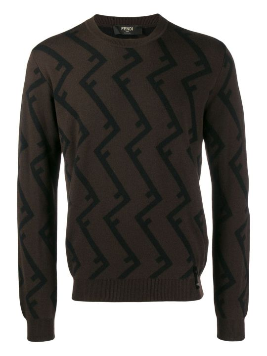 Fendi Pattern Roof Sweater