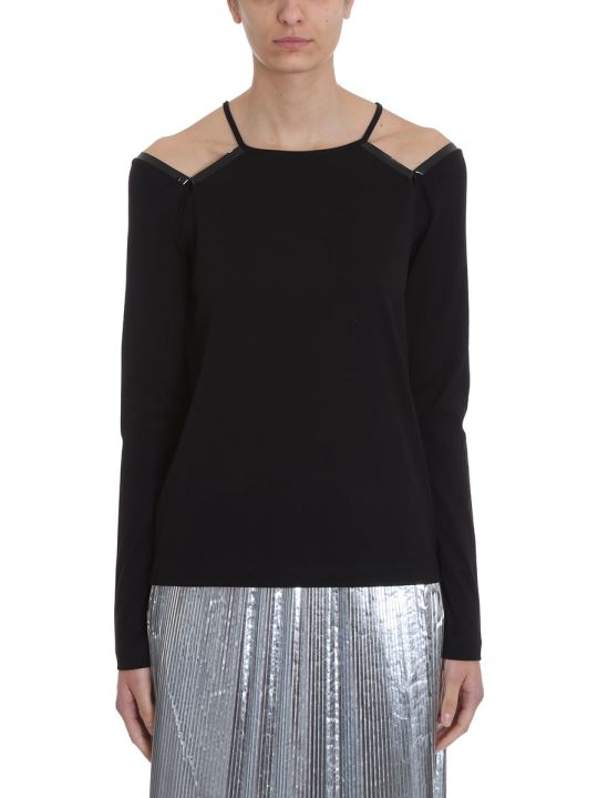 Maison Margiela Cutout Black Cotton Topwear