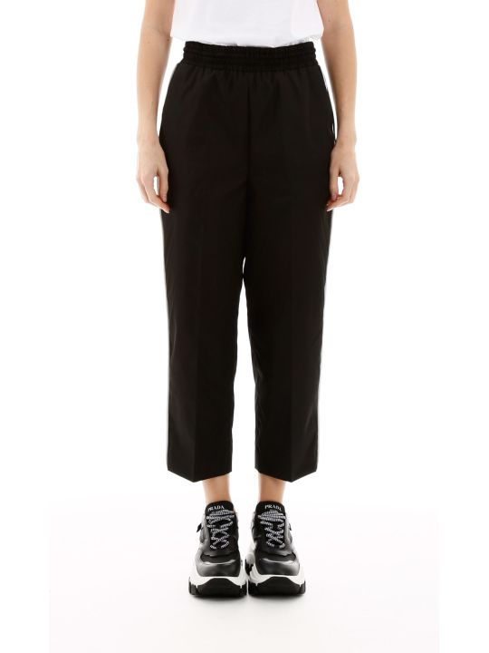 Prada Cropped Nylon Trousers