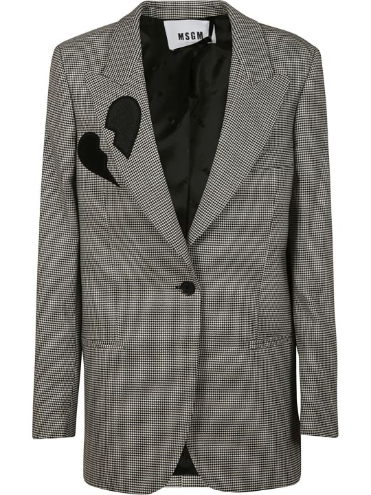 MSGM Houndstooth Hearth Patched Blazer