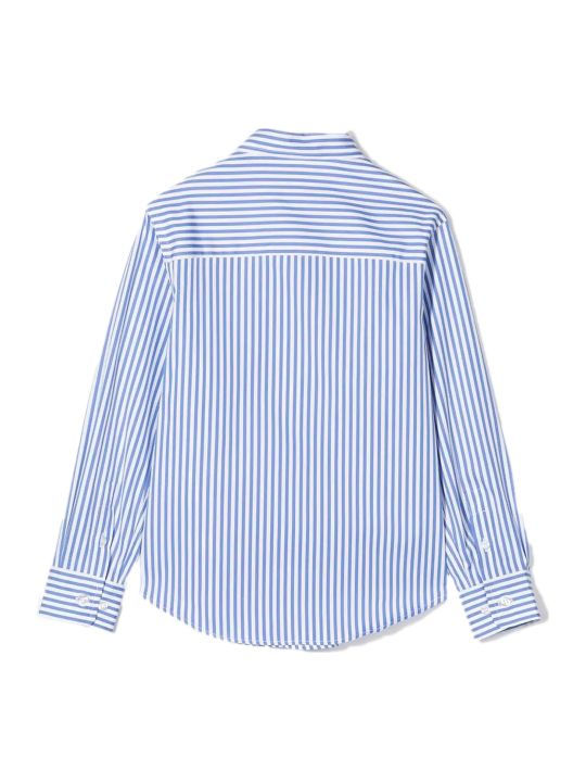 Fay White And Sky Blue Cotton Shirt