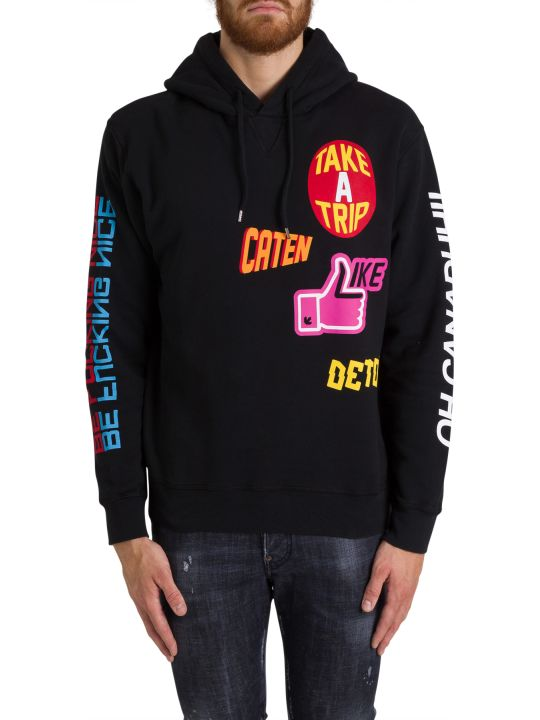 Dsquared2 Hoodie With Patch Print