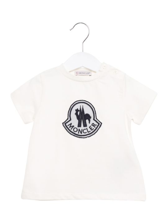 Moncler Logo Embroidered Tee
