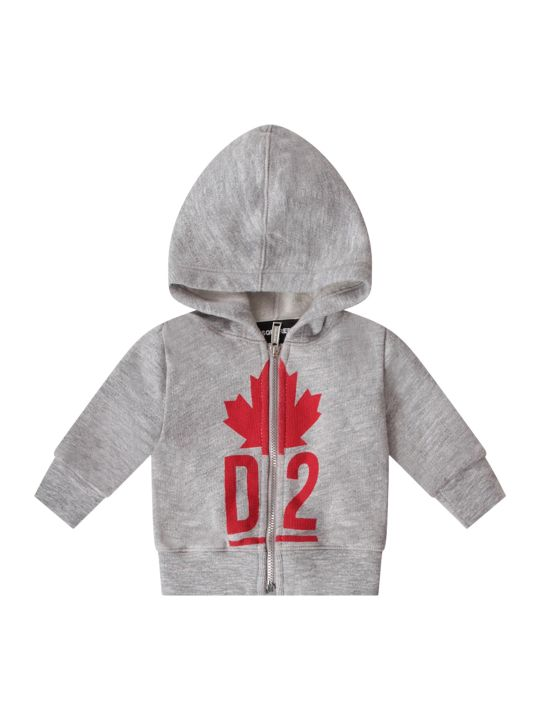 Dsquared2 Grey Babyboy Sweatshirt With Red Iconic Logo