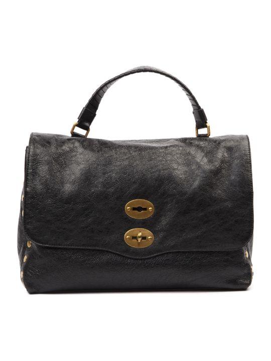 Zanellato Black Leather Tote Bag