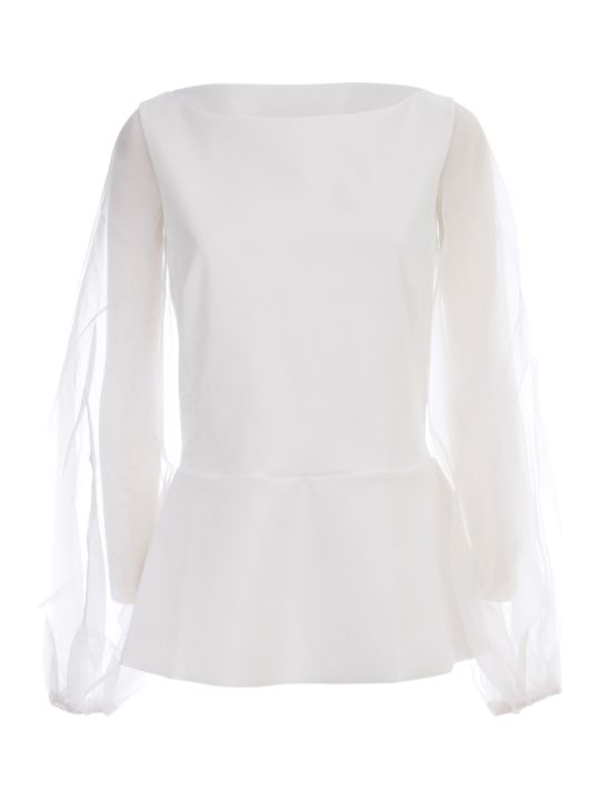 La Petit Robe Di Chiara Boni Top Voille Sleeve