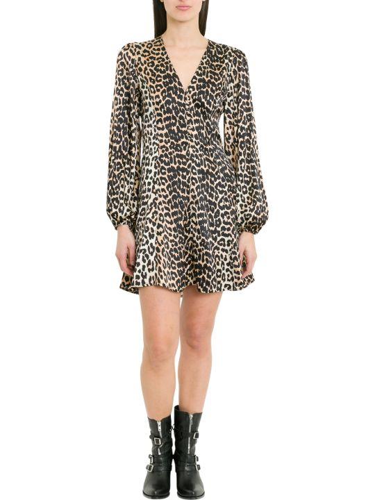 Ganni Blakely Leopard Printed Mini Dress
