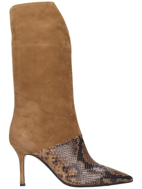 The Seller Boots In Brown Suede And Leather