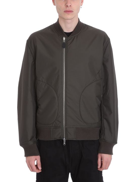 Maharishi Reversible Green Nylon Bomber Jacket