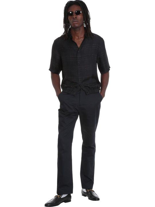 Martine Rose Pants In Black Cotton