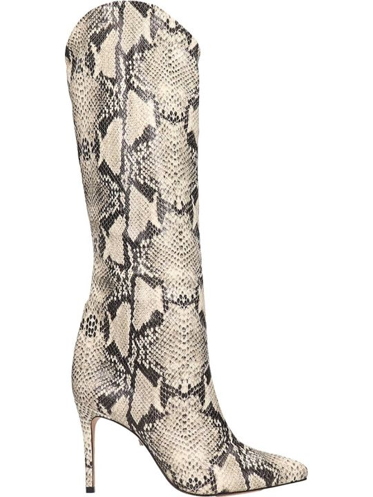 Schutz High Heels Boots In Animalier Leather