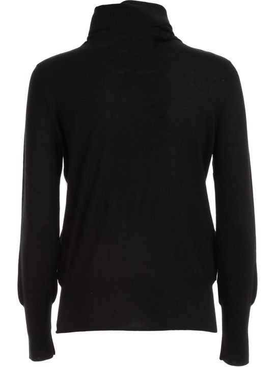 Snobby Sheep Sweater Turtle Neck W/leather In Front