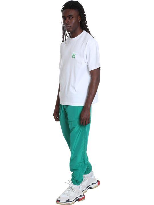Balenciaga Pants In Green Polyamide